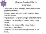 stress survival skills exercise