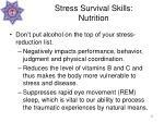 stress survival skills nutrition45