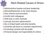 work related causes of stress