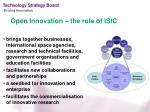 open innovation th e role of isic