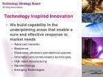 technology inspired innovation