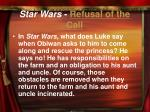 star wars refusal of the call