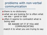 problems with non verbal communication
