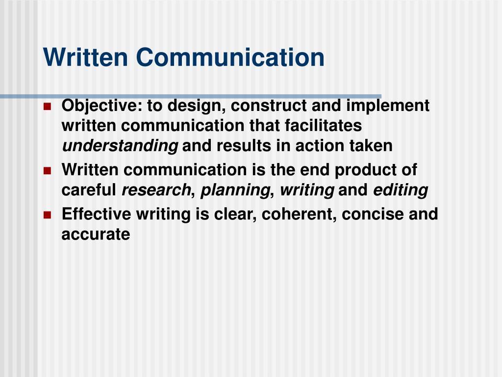 written communication l.