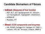 candidate biomarkers of fibrosis