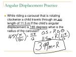 angular displacement practice