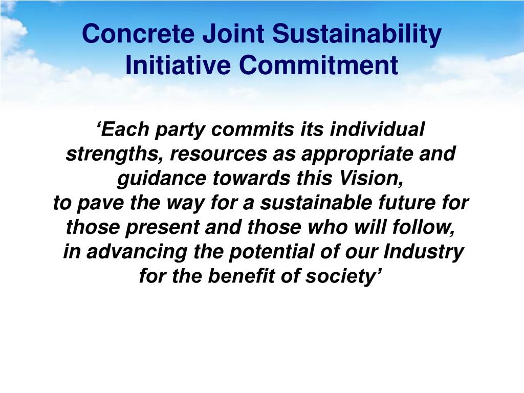 Concrete Joint Sustainability Initiative Commitment
