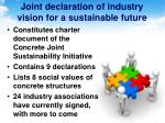joint declaration of industry vision for a sustainable future