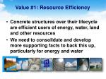 value 1 resource efficiency
