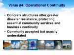 value 4 operational continuity