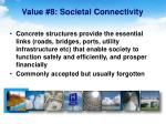 value 8 societal connectivity