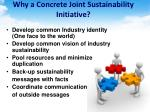 why a concrete joint sustainability initiative