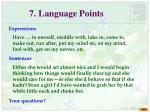 7 language points