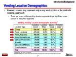 vending location demographics