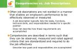 competencies vs job descriptions