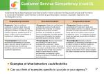 customer service competency cont d