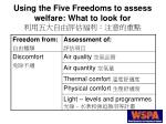using the five freedoms to assess welfare what to look for11