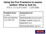 using the five freedoms to assess welfare what to look for14