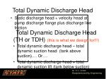 total dynamic discharge head