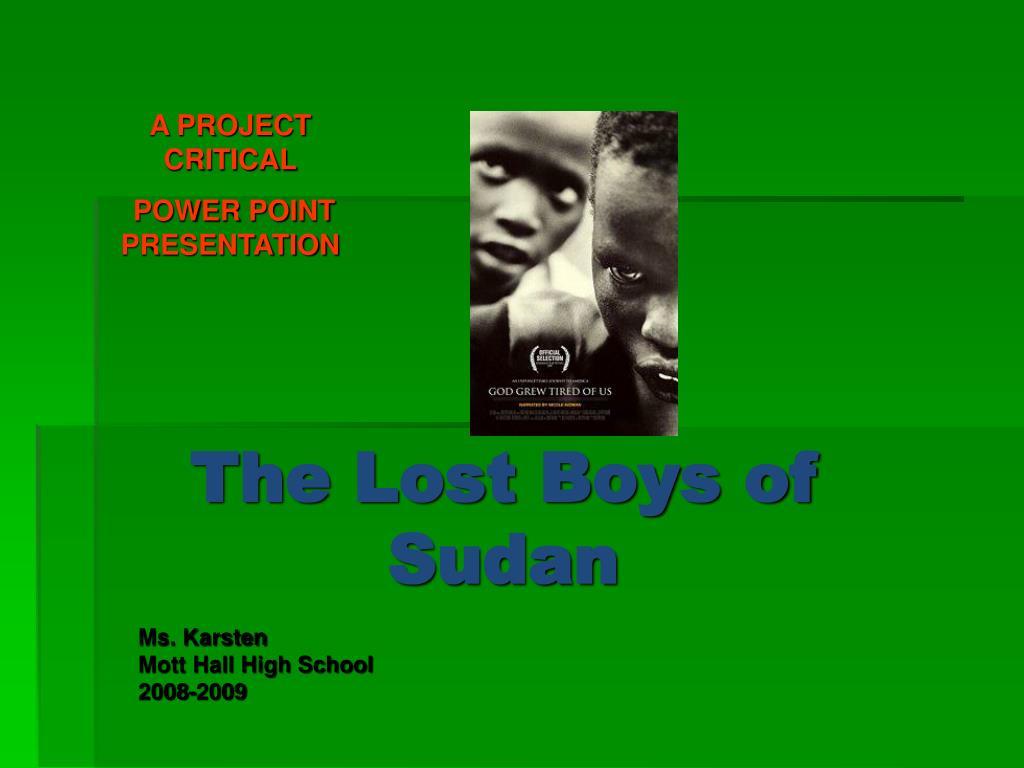 the lost boys of sudan l.