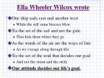 ella wheeler wilcox wrote