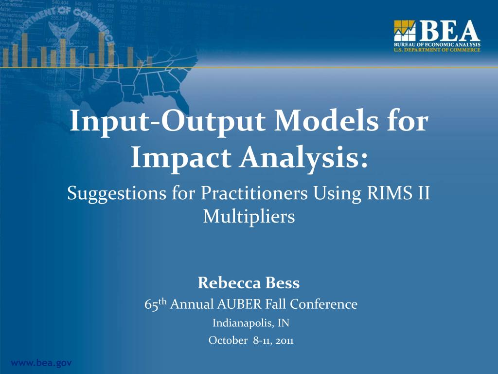 input output models for impact analysis l.