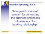 broadly speaking ifx is