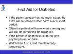 first aid for diabetes11