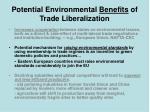 potential environmental benefits of trade liberalization13