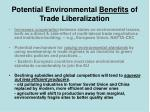 potential environmental benefits of trade liberalization14