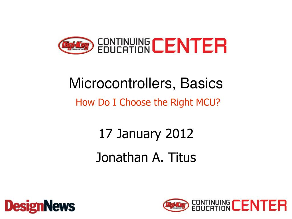 microcontrollers basics how do i choose the right mcu l.