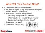what will your product need4
