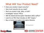 what will your product need9