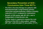 secondary prevention of scd conclusions from three rct s