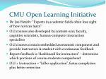 cmu open learning initiative