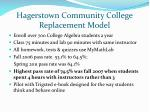 hagerstown community college replacement model