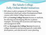 rio salado college fully online model initiatives
