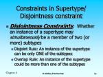 constraints in supertype disjointness constraint