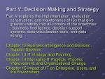 part v decision making and strategy