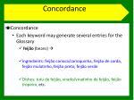 concordance