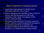 inter corporate communications
