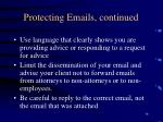 protecting emails continued