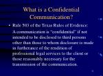 what is a confidential communication