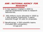anr national agency for research
