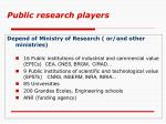 public research players