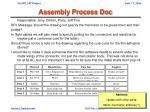 assembly process doc