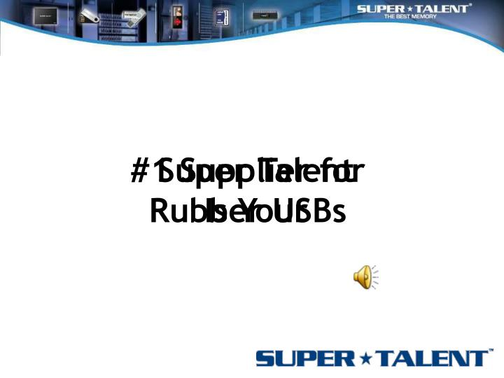 1 supplier for rubber usbs n.