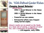 9 b well defined gender roles