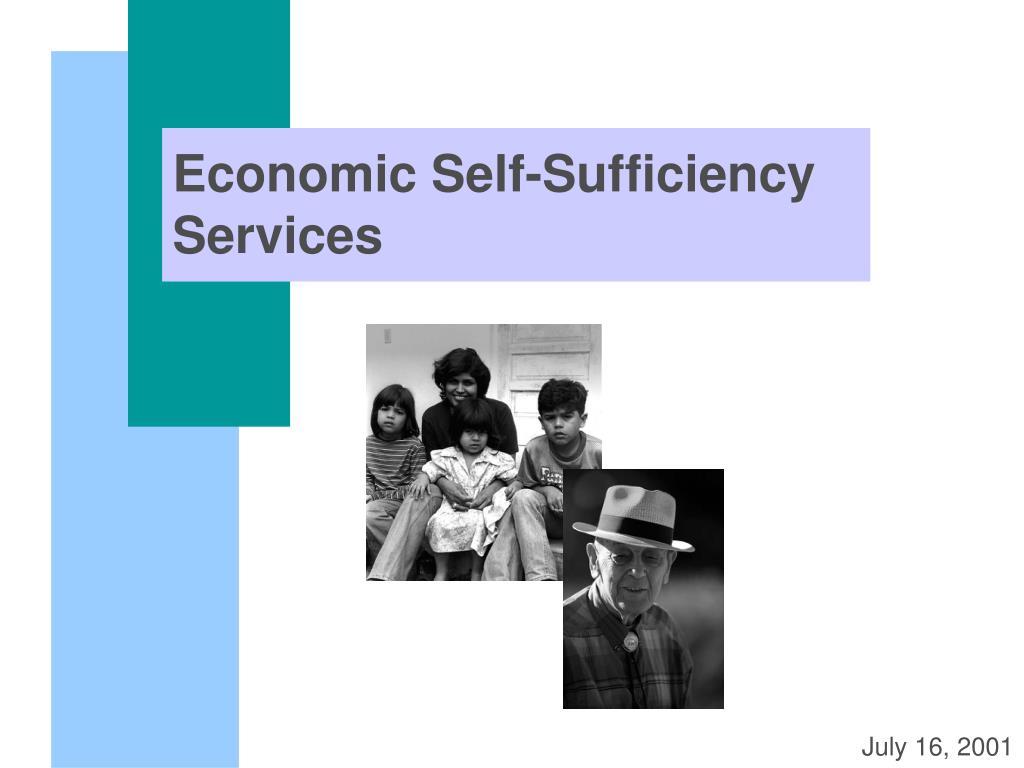 economic self sufficiency services l.