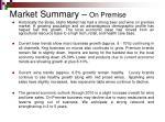 market summary on premise